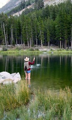 Freshwater fishing can be a great experience. Find out more about freshwater fishing including useful tips and how to stay safe when you are on the water. Salmon Fishing, Trout Fishing, Fishing Lures, Fishing Tips, Fishing Hole, Fishing Stuff, Carp Fishing, Fishing Tackle, Fly Fishing Girls