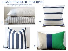 Best striped pillows from Etsy.