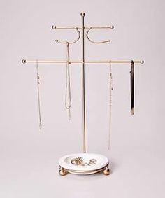 Multi-Purpose Gold Jewelry Display With Dish Jewelry Dish, Jewelry Stand, Jewelry Armoire, Jewelry Holder, Gold Jewelry, Jewelry Box, Jewlery, Accessories Display, Jewellery Display
