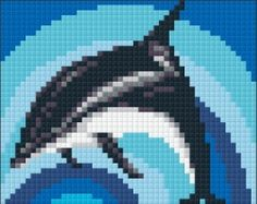 Met PixelHobby borduur je zonder naald. Met deze set kun je de afbeelding Dolfijn maken. € 14,95. (kijk op www.sienenco.nl)