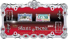 Skull & Bone, Chrome License Plate Frame
