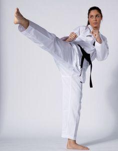 Taekwondo Anzug Victory, weiß mit weißem Revers