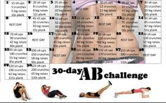 August workout challenge (abs)