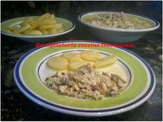 "Recopilatorio de recetas : Pechuga de pollo con nata en thermomix ""Varoma"""