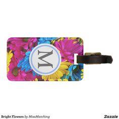 Bright Flowers Luggage Tag