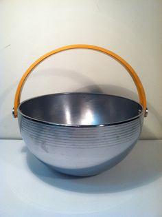 Vintage Chrome and Bakelite Bowl. by DesignHiveVintage on Etsy, $125.00