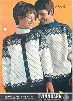 Hønefoss 658 S Norwegian Knitting, Vintage Knitting, Norway, Scandinavian, Knitting Patterns, Ruffle Blouse, Jumpers, Crochet, Vests