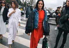 Tiffany Hsu in a Magda Butrym dress
