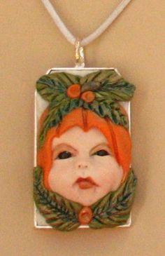 Pumpkin Pixie Pendant Necklace