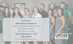 The 2nd Annual UMHS Research Symposium will be held in the Warren Ross Auditorium, UMHS Campus, St. Kitts, Thurs Nov 17, 2016 , 6:00-8:00 pm, reception to follow.