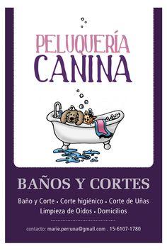 flyer / volante para Peluquería Canina