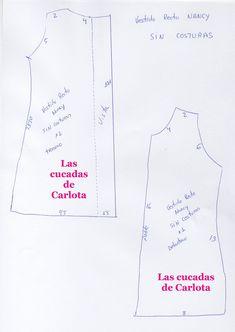 Hoy os traigo un patrón de un vestido recto para nuestra Nancy , un vestido muy fácil de realizar y perfecto para l@s que comienzan en... Vestidos Nancy, Nancy Doll, Disney Animator Doll, Doll Dress Patterns, Doll Clothes, Sewing, Hearts, Crochet, Easy Dress