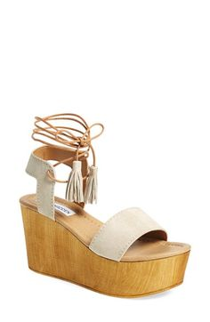 Steve Madden 'Shannnon' Platform Wedge Sandal (Women) available at Cute Shoes, On Shoes, Me Too Shoes, Shoes Heels, Looks Style, My Style, Platform Wedge Sandals, Steve Madden Platform Sandals, Steve Madden Wedges