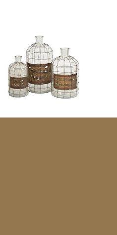 Bottles 36016: Bnzr-Imx848193-Imax Dimora Set Of 3 Wire Caged Bottles -> BUY IT NOW ONLY: $169.11 on eBay!