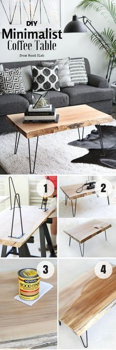 Check out how to build this easy DIY Minimalist Coffee Table Industry Standard Design