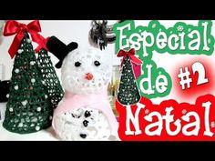 DIY NATAL | DECORAÇÃO DE NATAL USANDO COLA QUENTE - Árvore e Boneco de Neve #2 - YouTube