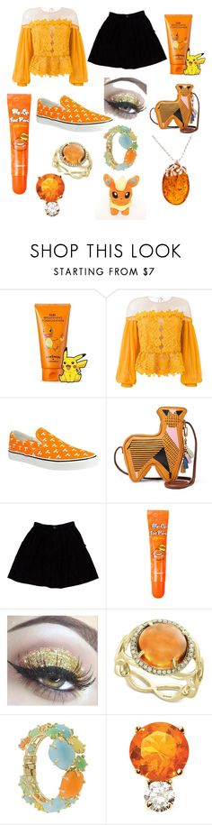 """Orange Cutie"" by embervega ❤ liked on Polyvore featuring TONYMOLY, Three Floor, Row One, FOSSIL, Opening Ceremony, BERRISOM, Effy Jewelry, Rosantica, Jemma Wynne and Be-Jewelled"