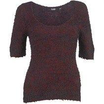 Fluid Womens Sweater Burgundy/Black