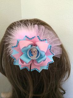 Frozen Hair Bow. Frozen Boutique Hair Bow. by TheJMarieBoutique, $11.99