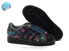 e7f732889c Officiel Adidas Superstar II Modèle Noir Vente Adidas Superstar Superstar  Chaussure