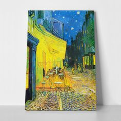 Wall Art Canvas Prints Cafe Terrace at Night Vincent van Gogh Painting Framed 12 x 16 Inch - Modern Fine Art Reproductions Giclee Print on Canvas Ready to Hang for Home Office Decoration Wall Decor Vincent Van Gogh, Painting Prints, Wall Art Prints, Poster Prints, Canvas Prints, Painting Canvas, Textured Painting, Poster Wall, Van Gogh Pinturas