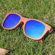 Reflective Skateboard Polarized Wood Sunglasses //Price: $20.79 & FREE Shipping //     #sunglasses for women