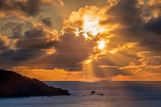 Photograph Sunset Over Land's End by Joe Azure on Lands End, Beautiful Landscapes, Clouds, Sky, Sunset, Photograph, Outdoor, Heaven, Photography