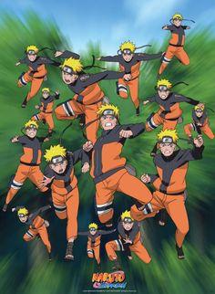 Poster Naruto Multi-clonage (52X38)