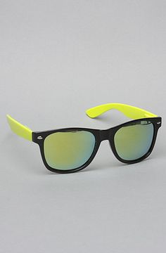 The Bright Neon Sunglasses in Yellow by *Accessories Boutique