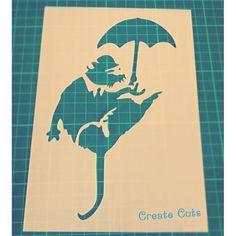 Banksy Umbrella Rat reusable stencil