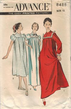 1950s Advance 8488 Vintage Sewing Pattern Misses by midvalecottage