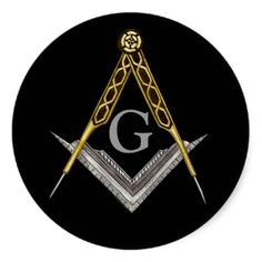 A Masonic sticker sporting the traditional Square and Compass with inset G.