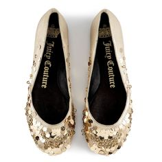 Juicy Couture Sequined Ballerina ($112) ❤ liked on Polyvore featuring shoes, flats, sapatos, scarpe, zapatos, women, flat shoes, sequin flats, ballerina flats and flat ballet pumps