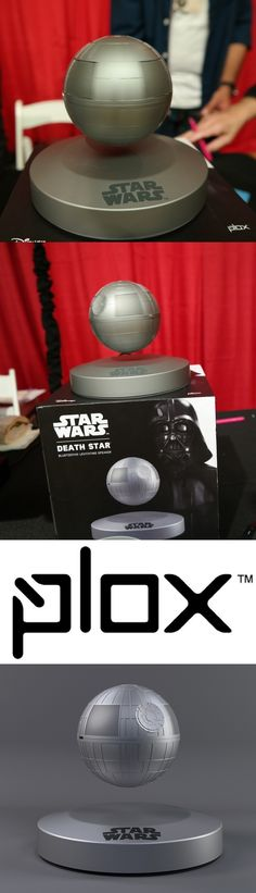 The Star Wars Bluetooth Levitating Death Star Speaker from Australia-based Plox spins and floats freely above its magnetic base—but doesn't have to if there's no one around to impress. The 3.75-inch globe speaker offers up to five hours of five-watt audio per two-hour charge and can be used as a down-to-earth Bluetooth 4.1 portable speaker. The $200 unit, spotted at the Pepcom Holiday Spectacular press-only product showcase in NYC, will be available Oct. 1. CLICK THE PIC. #StarWars