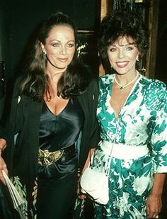 Joan & Jackie Collins.  Power Bitches of the 80s.