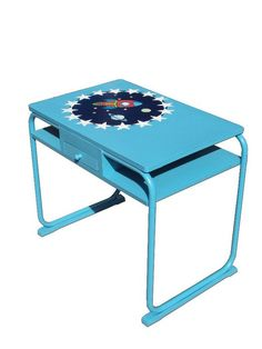 Children desk with rocket and stars.
