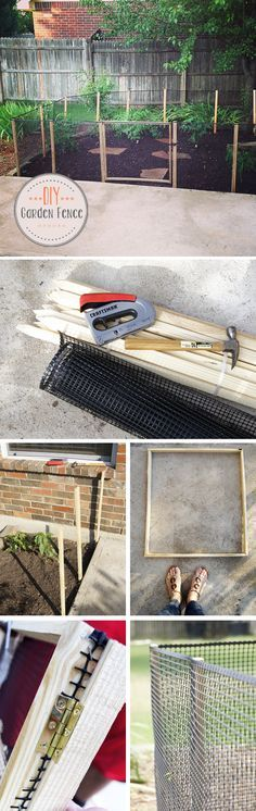 Keep the chickens out of he veggie garden - DIY // How to make a Garden Fence   Oh Everything Handmade