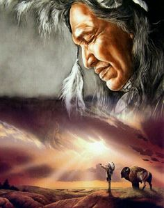 Mighty Buffalo & Bison Native American Horses, Native American Tattoos, Native American Warrior, Native American Paintings, Native American Wisdom, Native American Pictures, Native American Beauty, American Indian Art, American Indians