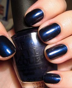 OPI russian navy... I usually am not much of a fan of iridescent polishes but this one is ok. I like flat colors better
