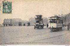 Paris Champs Elysees, Circulation, Buses, Motorbikes, Puppet, Antique Pictures, Busses