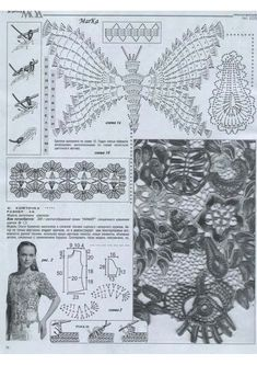~ Crochet Style ~: ~Vestido rosa con mariposas y encaje brujas~