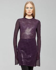B2HU3 Akris St. Gallen Sequined Dress