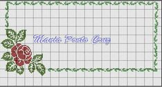 This Pin was discovered by Elm Cross Stitch Boarders, Cross Stitch Letters, Cross Stitch Rose, Cross Stitch Flowers, Counted Cross Stitch Patterns, Cross Stitch Embroidery, Sewing Projects, Projects To Try, Christmas Cross