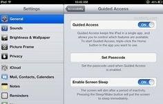 Guided access for when kids use ipad