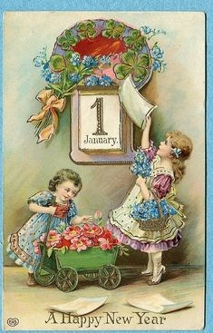 590 best new year s vintage cards images on pinterest vintage