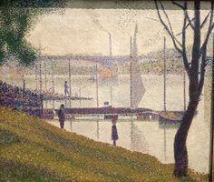 George Seurat, The bridge at Corbevoie on ArtStack #george-seurat #art