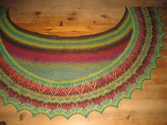 Ravelry: Jultorpet's Spring Tulips Shawl #3 Knitted Shawls, Holidays And Events, Tulips, Ravelry, Beaded Necklace, Knitting, Spring, Working Holidays, Amazing