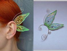 EarringsEarcuffs – butterfly ear cuffs, earrings wings, earrings butterfly wings… – Famous Last Words Fairy Jewelry, Magical Jewelry, Wing Earrings, Cuff Earrings, Amethyst Earrings, Maquillage Halloween, Halloween Disfraces, Diy Schmuck, Jewelry Crafts