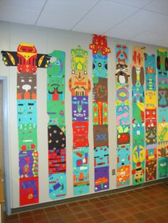 Awesome totem pole project for Native American unit