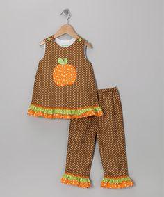 effc4dfd6d4 Kandyland Brown Pumpkin Top   Pants - Infant